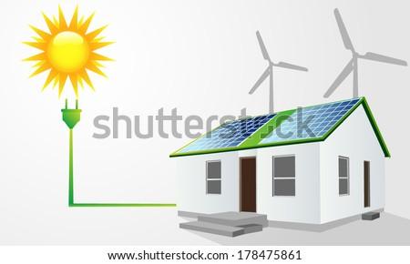 Green energy concept - stock vector