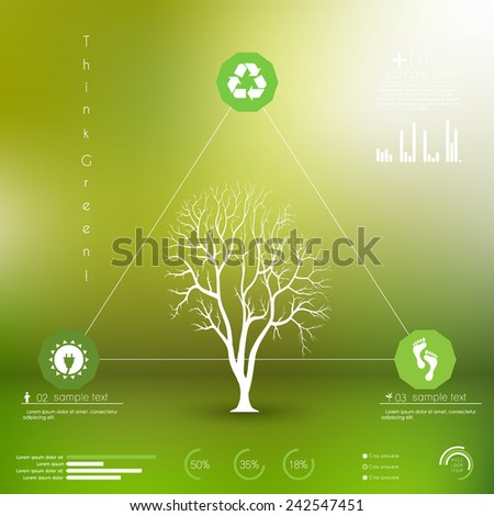 green energy/ ecology info graphics collection - ENERGY industry - charts, symbols, graphic elements  - stock vector