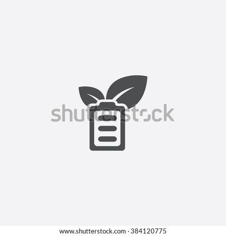 green energy Icon. green energy Icon Vector. green energy Icon Art. green energy Icon eps. green energy Icon Image. green energy Icon logo. green energy Icon Sign. green energy Icon Flat battery - stock vector