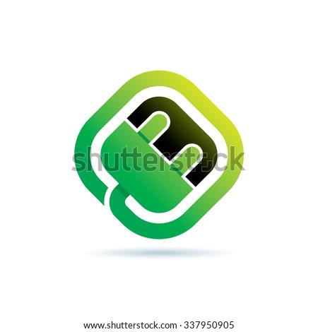 Green Energy Icon Logo Elements - stock vector