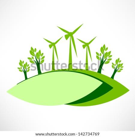 Green energy vector background. Healthy conception - stock vector