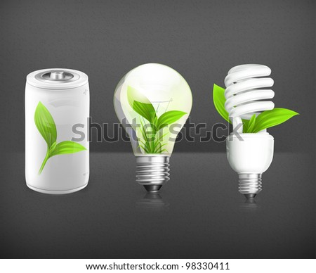 Green Energy, vector set
