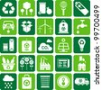 green environment and recycle icons - stock