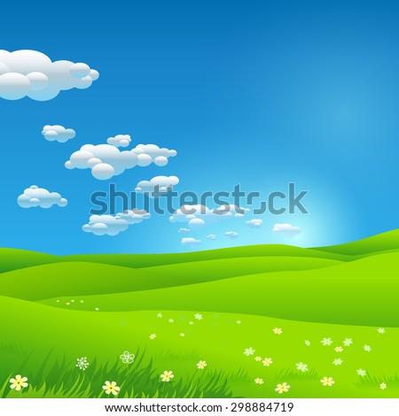 Green environment illustration - stock vector