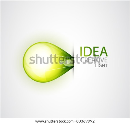 Green environment oriented concept. Light bulb background - stock vector