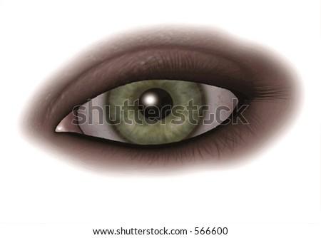 Green Eye - stock vector