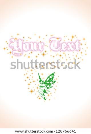 Green fairy with fairy dust vector image - stock vector