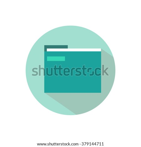 Green folder for papers and documents icon symbol of a computer flat - stock vector