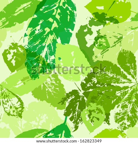 Green foliage. Seamless texture. Vector eps 10 - stock vector