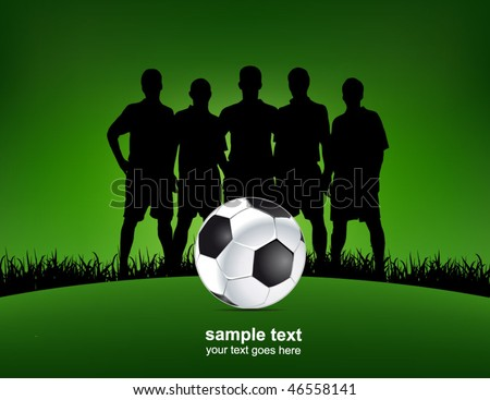 green football poster - stock vector