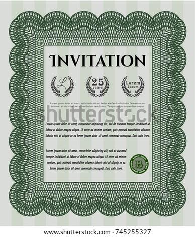 Green formal invitation money design vector stock vector 745255327 green formal invitation money design vector stock vector 745255327 shutterstock stopboris Images