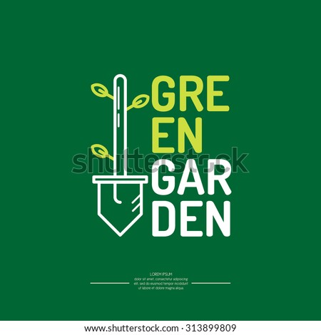 green garden logo vector logo design