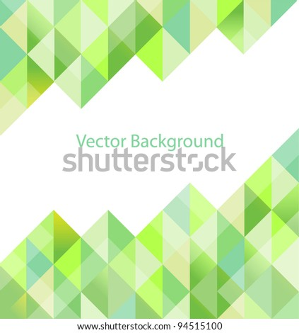 Green geometric background. Vector