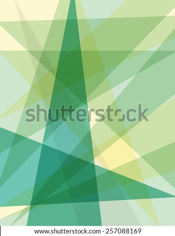 Green geometric pattern over tan color background - stock vector