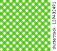 Green gingham cloth with fabric texture, seamless pattern included ( for high res JPEG or TIFF see image 129432485 ) - stock vector