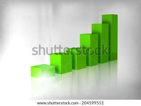 Green graph up. Business symbol. Vector symbols. - stock vector