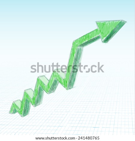green graphic line - stock vector