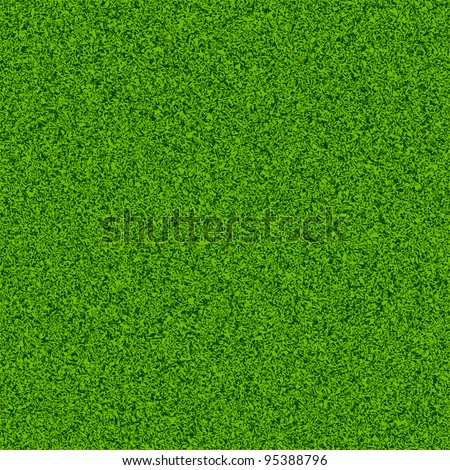 Green grass field. Seamless vector. - stock vector