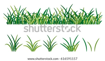 green grass isolated on white background stock vector 2018 rh shutterstock com Grass Outline Clip Art Grass Line Art