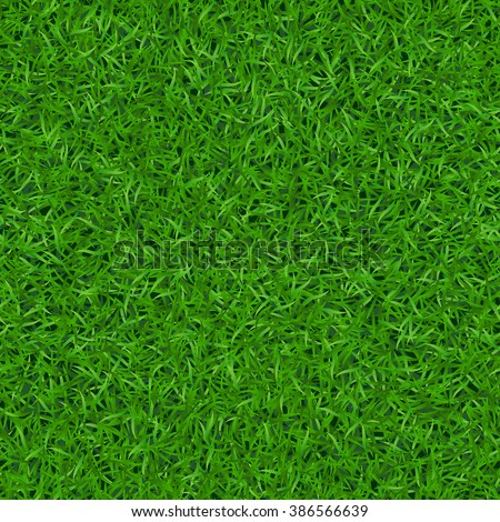Green grass seamless pattern. Background lawn nature. Abstract field texture. Symbol of summer, plant, eco and natural, growth. Meadow design for card, wallpaper, wrapping, textile Vector Illustration - stock vector