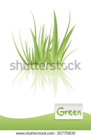green grass vector illustration, related with ecology and green world concept - stock vector