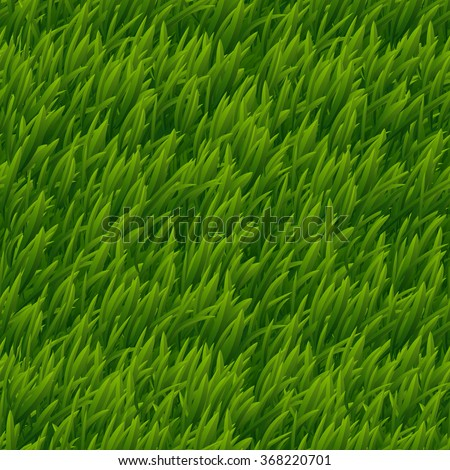 Green grass vector seamless texture. Lawn nature, meadow plant, field natural outdoor illustration - stock vector