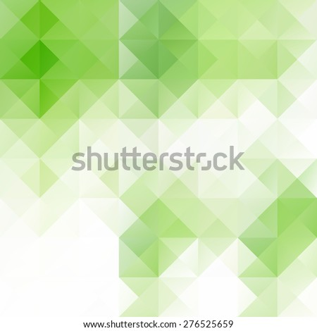 Green Grid Mosaic Background, Creative Design Templates - stock vector