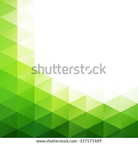 Green Grid Mosaic Background, Creative Design Templates - stock vector