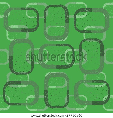 Green grunge rectangles on green background - vector illustration.