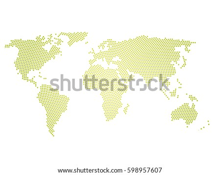 Green halftone world map small dots stock vector 598957607 green halftone world map of small dots in radial arrangement simple flat vector illustration on gumiabroncs Image collections