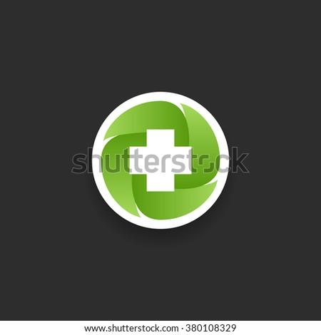 green health care Icon concept - stock vector