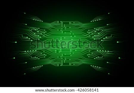 green high tech circuit board, abstract circuit board, Circuit board background, digital circuit,  cyber circuit technology. - stock vector