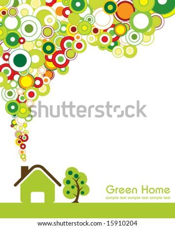 Green Home - stock vector