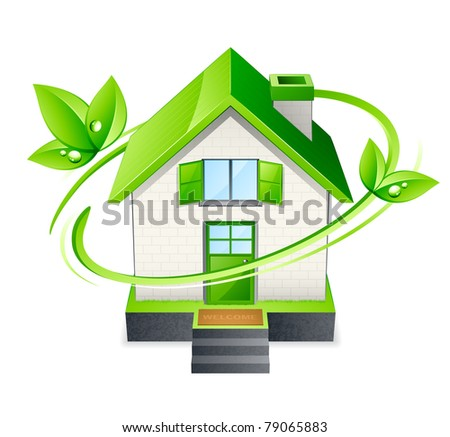 green house icon - stock vector