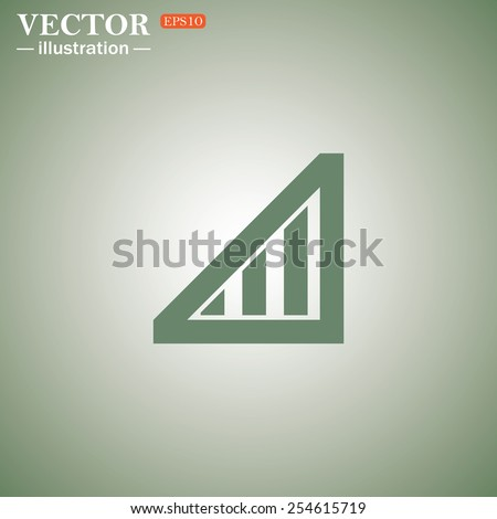 Green icon on a green background. no signal, poor signal strength, signal strength indicator, vector illustration, EPS 10