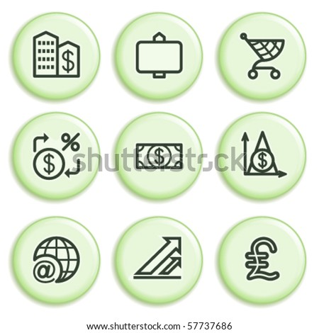 Green icon with button 23 - stock vector