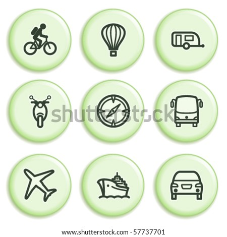 Green icon with button 20 - stock vector