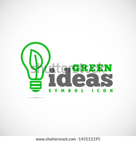 Green ideas logo template - stock vector