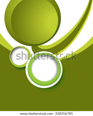 Green illustration for your business presentations.