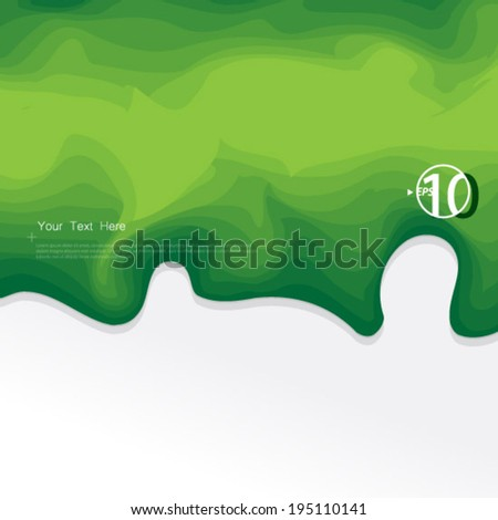 Green Ink Effect Design Elements Background - stock vector