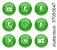 Green internet buttons 1 - stock vector