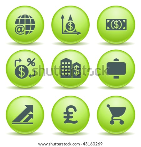Green internet label 23 - stock vector