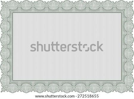 Green isolated certificate or diploma template - stock vector