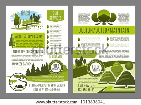environment brochure template - horticulture stock images royalty free images vectors