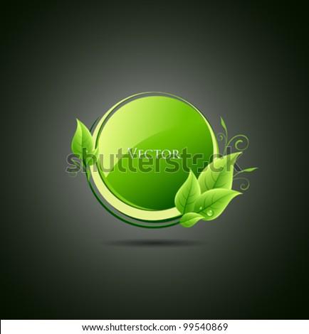 Green leaf concept ecology. vector illustration - stock vector