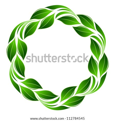 Green leaf flower - stock vector