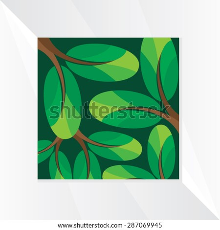green leaf vector illustration  - stock vector
