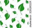 green leaves background texture - vector - stock vector