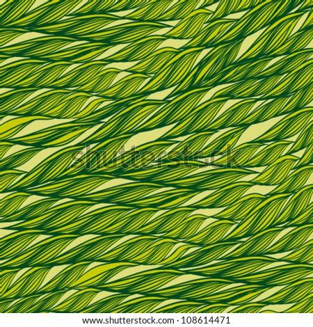 Green leaves background. Vector illustration Eps 10. - stock vector