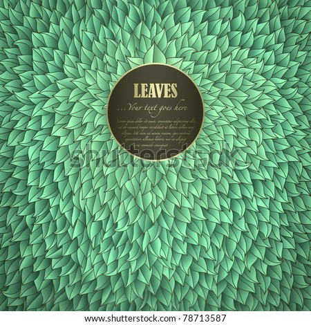Green Leaves Invitation with space for Your text - stock vector